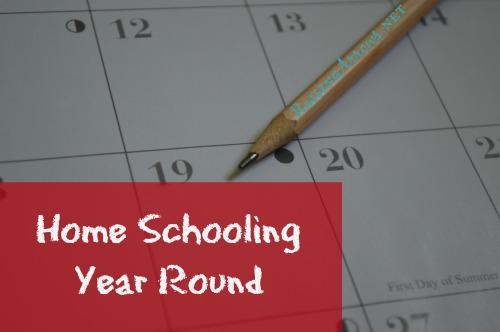 Homeschooling Year Round | RaisingArrows.net