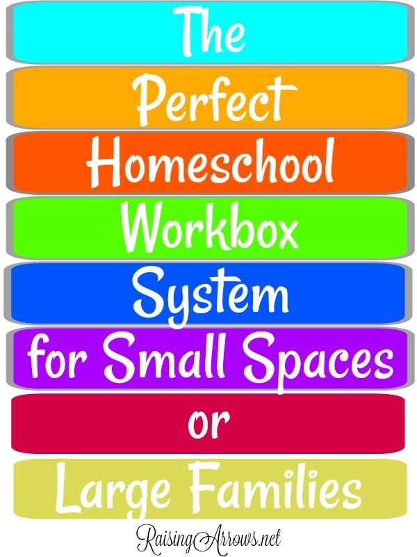 If you think the workbox system for #homeschool organization could never work for you because you have a large family or live in a small house, think again!