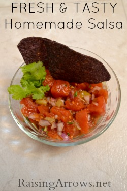 Fresh & Tasty Homemade Salsa - nothing like it! | RaisingArrows.net