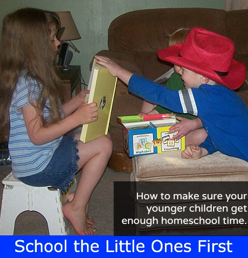 School the Little Ones First {How to make sure your younger children get enough homeschool time}