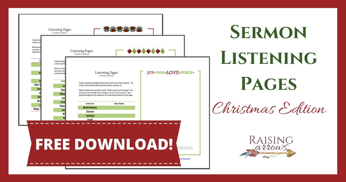 Christmas Sermon Notes for Kids {Free Download!}