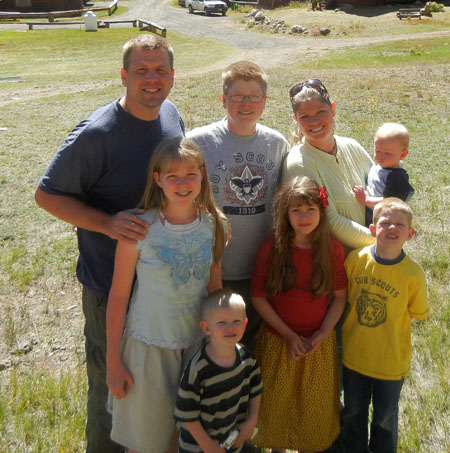 Family photo in Colorado