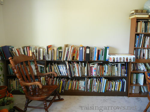 main bookshelves
