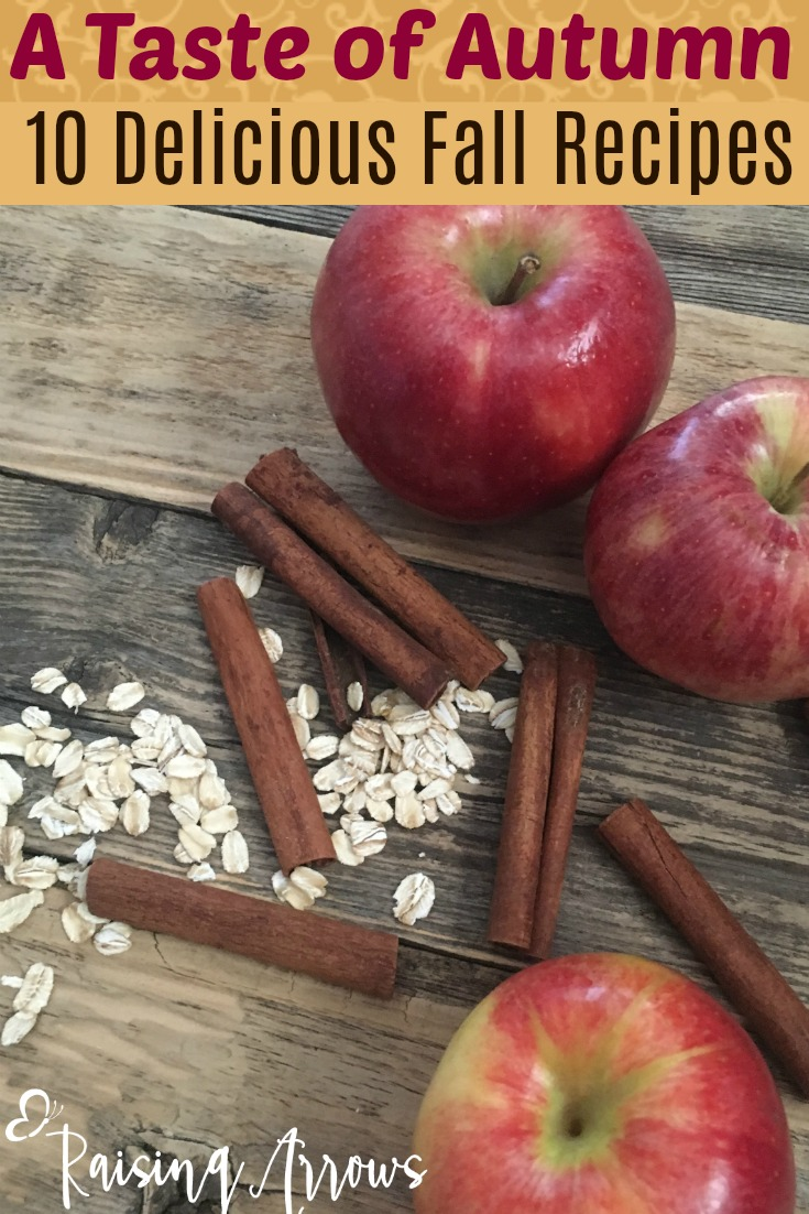 10 Tasty Fall Recipes full of apples, cinnamon, and other yummy fall flavors!