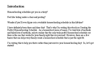Homeschooling intro sample