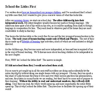 School littles sample