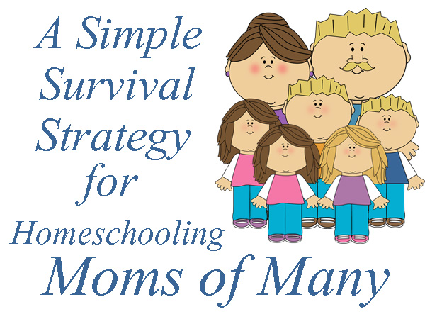 A Simple Strategy for Homeschooling Moms of Many | RaisingArrows.net