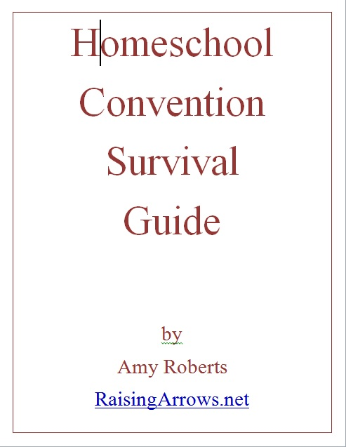 Tame the Homeschool Information Monster - one way is to be prepared for your local homeschool convention with this FREE ebook! | RaisingArrows.net