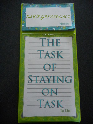 The Task of Staying on Task | RaisingArrows.net