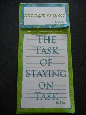 The Task of Staying on Task   RaisingArrows.net
