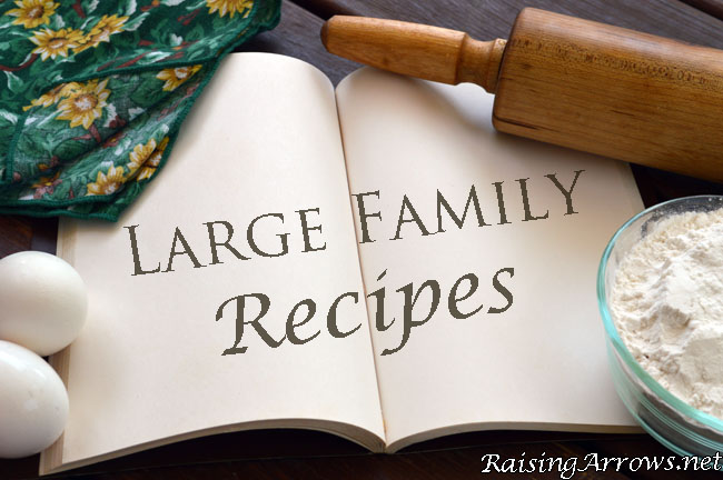 Large Family Recipes | RaisingArrows.net