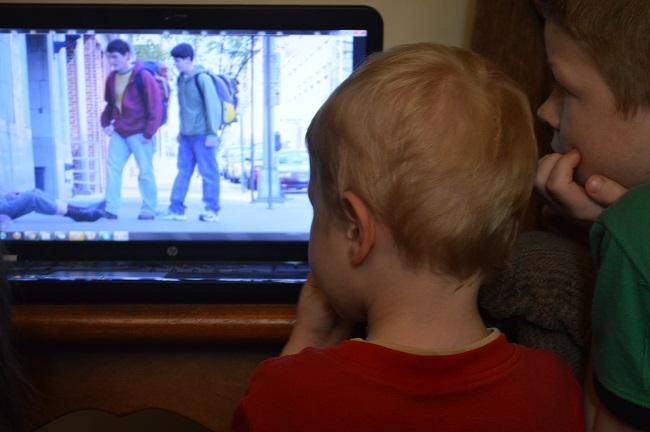 boys watching Good Samaritan