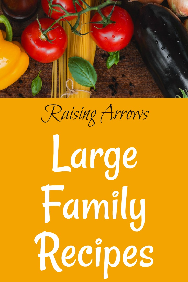 HUGE list of Large Family friendly recipes from a mom of 10!
