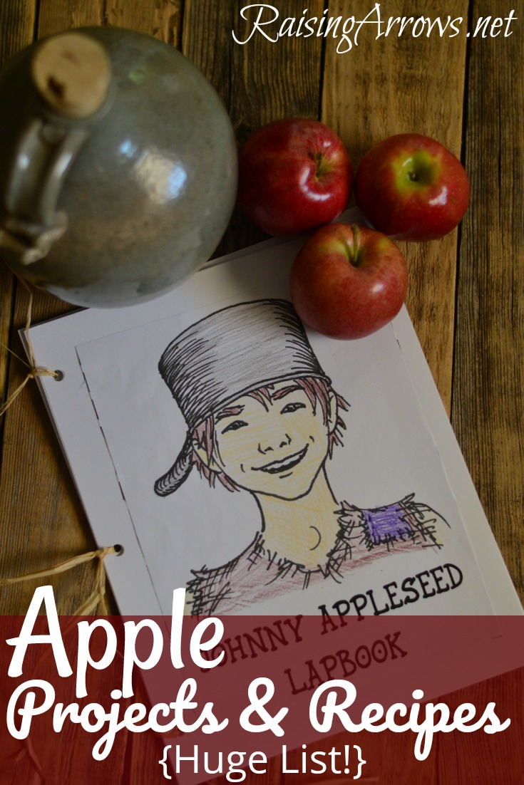 Huge List of Apple Crafts, Recipes, and Projects our family has enjoyed over the years as a supplement to our homeschool!