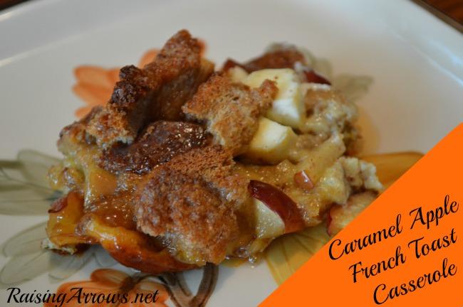 Caramel Apple French Toast Casserole | RaisingArrows.net