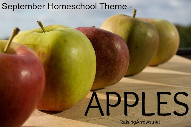 September Homeschool Theme - Apples | RaisingArrows.net