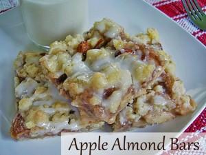 apple almond bars