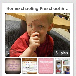 Homeschooling Preschoolers & Kindergartners Pinterest Board