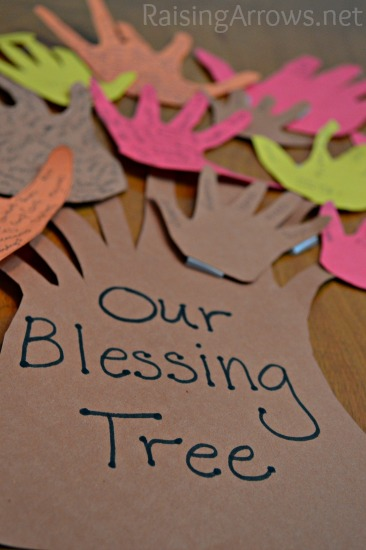 Blessing tree for Thanksgiving crafts for kids church
