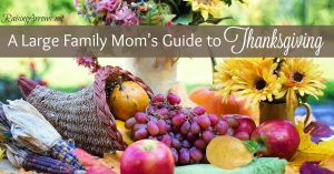 The Large Family Mom's Guide to Thanksgiving