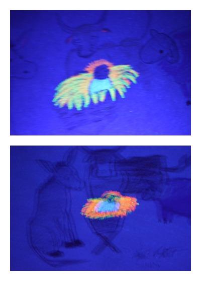 Gift of Love Art Lesson with black light reveal! | RaisingArrows.net