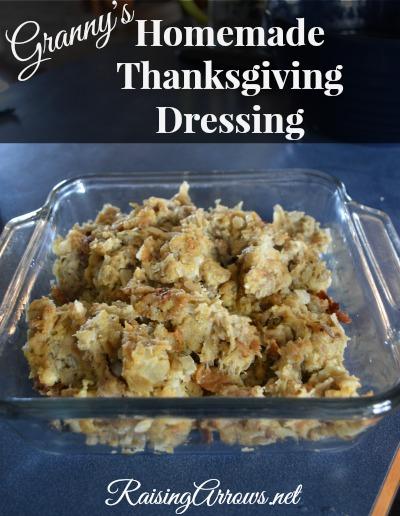 Granny's Homemade Thanksgiving Dressing | RaisingArrows.net