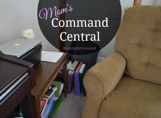 Mom's Command Central {why I decided to create my own office space} | RaisingArrows.net