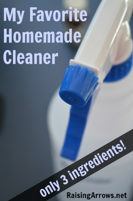 My Favorite Homemade Cleaner {only 3 ingredients!} | RaisingArrows.net