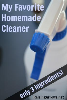 My Favorite Homemade Cleaner {only 3 ingredients!} | RaisingArrows.net
