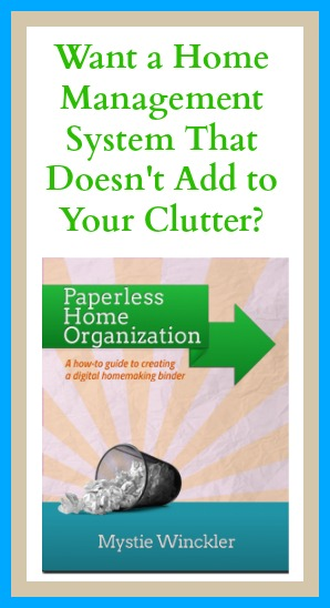 Want a Home Management System That Doesn't Add to Your Clutter? {review of Paperless Home Organization by Mystie Winckler} | RaisingArrows.net