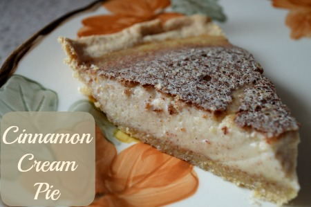 Cinnamon Cream Pie | RaisingArrows.net