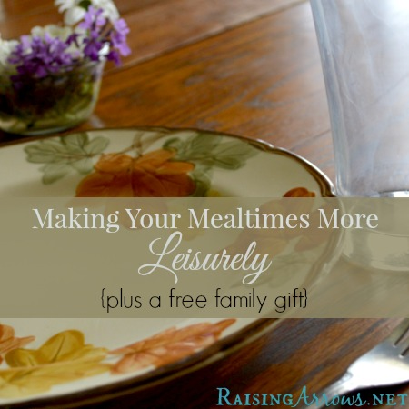 Leisurely Meals