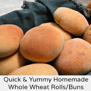 Healthy Homemade Whole Wheat Rolls & Buns