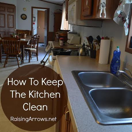 How to keep the kitchen clean raising arrows for How to keep the kitchen clean