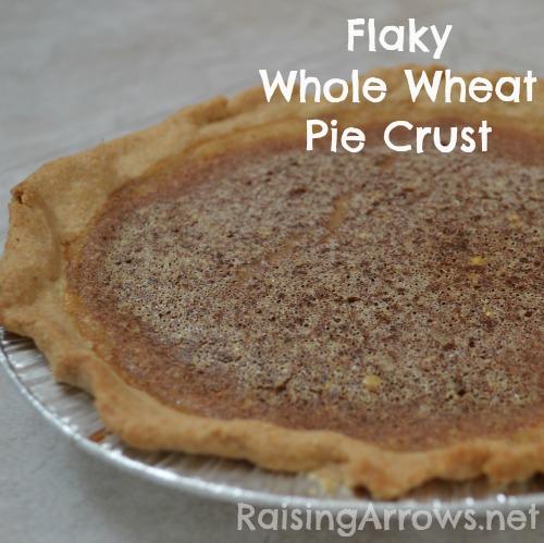Wonderfully Flaky Whole Wheat Pie Crust (uses coconut oil & whole wheat pastry flour) | RaisingArrows.net