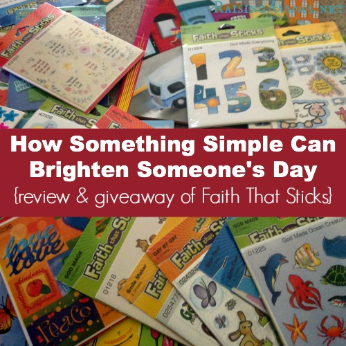 How Something Simple Can Brighten Someone's Day {review & giveaway of Faith That Sticks} | RaisingArrows.net