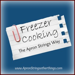 Freezer Cooking-The Apron Strings Way