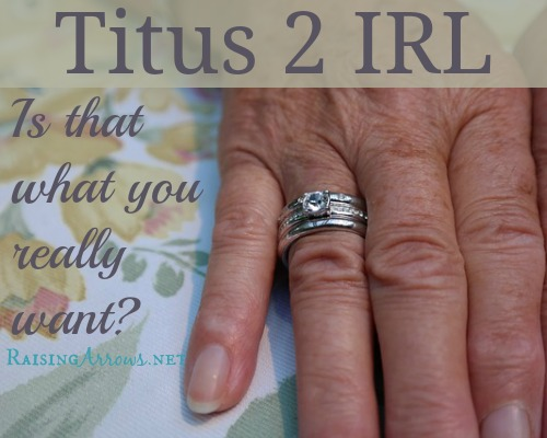 Titus 2 IRL - Is that what you really want? | RaisingArrows.net