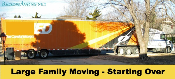 Large Family Moving Series {starting over in a new place} | RaisingArrows.net
