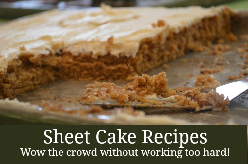 Sheet Cake Recipes - pumpkin, chocolate-cinnamon, & almond! | RaisingArrows.net