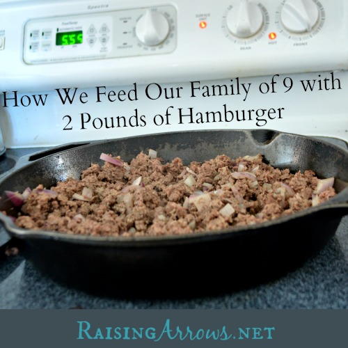 How We Feed Our Family of 9 with 2 pounds of Hamburger + Unstuffed Cabbage Roll recipe | RaisingArrows.net