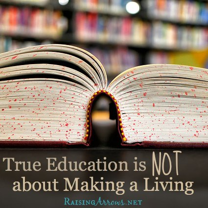 "There is so much more to education than ""employment preparation"".  Give your children a LIFE!  Homeschooling is a perfect opportunity for this - do not squander it! 