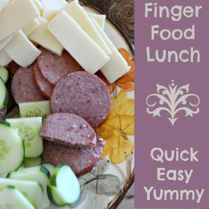 Finger Food Lunch - having a snack lunch is a quick and easy homeschool meal! | RaisingArrows.net
