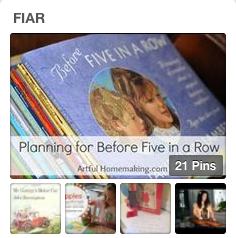 Five in a Row Pinterest Board from Amy @ Raising Arrows