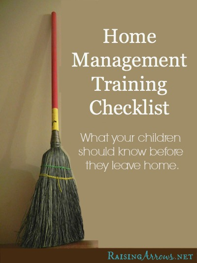 home management checklist