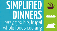 Simplified Dinners ebook with recipes! (giveaway winner)