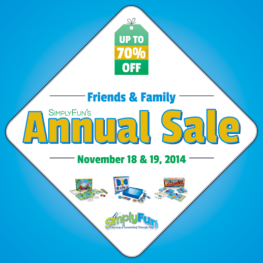 SimplyFun Educational Games Annual Sale - Give gifts that teach!