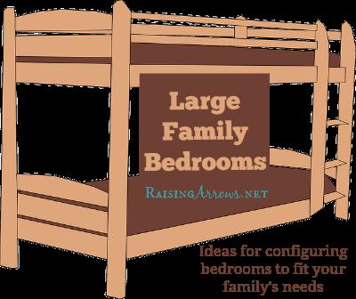 Arranging Large Family Bedrooms | RaisingArrows.net