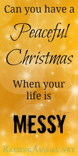 Is it possible to enjoy the holidays when your life is in upheaval?   RaisingArrows.net