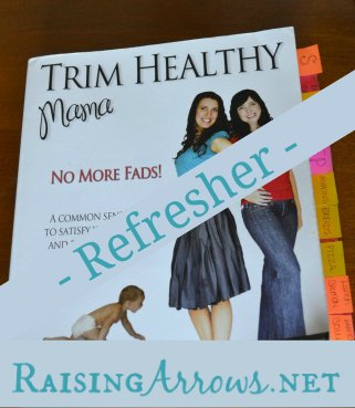 At 2 weeks from delivery our newest blessing, I decided to refresh my memory on all things Trim Healthy Mama.  It was this same gestation 2 years ago, I got my book for the first time.  Here are a few things I learned reading the book for a second time | RaisingArrows.net